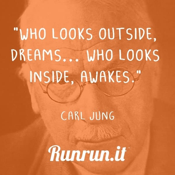 """Inspirational quotes """"Who looks outside, dreams… who looks inside, awakes."""" Carl Jung"""